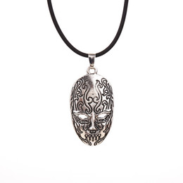 Wholesale Death Pendants - 2016 Character Death Eater Mask Brand Pendant Necklace The Latest Movie Fashion Jewelry Wholesale Price Free Shipping