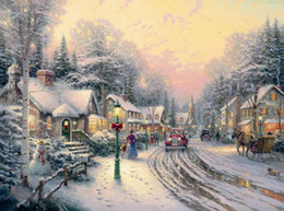 Wholesale Large Wall Pictures For Sale - Prints For Sale Thomas Kinkade A Light In The Storm Banksy landscape for painting Large Canvas Wall Oil Painting Beauty On