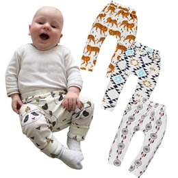 Wholesale Woolen Tights Boys - PrettyBaby animal print panda tiger monkey fox pants baby harem pants baby kids Leggings boys girls clothes baby capri pants 8 designs
