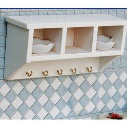 Wholesale Dollhouse Wood - Wholesale-Kitchen Wood Wall Rack 1 12 Dollhouse Miniatures Furniture Toys White