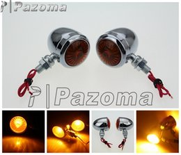 Wholesale Suzuki Indicators - PAZOMA Motorcycle LED Turn Signal Light Amber LED Light Blinker Indicator Flasher Lamp Motorcycle LED Turn Signal Lamp