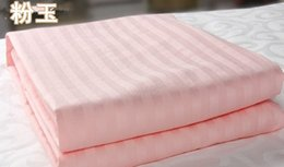Wholesale Twin Size Pink Blanket - Wholesale-3kg queen size Summer comforter 200*230cm 79*91inchs 100% handmade mulberry silk Filling Quilt Blanket pink white color