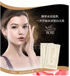 Wholesale oil sealing - Wholesale Monolithic sealing 35ml Rose stem cell mask Silk Mask moisturizing whitening Suitable for all skin types 100pcs lot DHL free