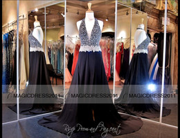 Canada Sexy Black Pageant Robes Robes De Soirée De Bal Sans Dossier A-Line Halter Cristal Perlé, Plus La Taille Longue Robe De Fête Formelle Robes De Célébrité 2015 cheap beaded pageant evening celebrity formal party Offre