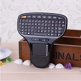Wholesale Tv Pad For Sale - Wholesale-Hot Sale N5903 2 in 1 2.4G Wireless Mini Keyboard Fly Air Mouse Touch Pad For Home Theater PC Android TV BOX