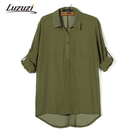Wholesale Works Bell - Wholesale- 2017 Women Chiffon Blouse Womens Top Long Sleeve Solid Color Button Blouse Shirt Female Shirts OL Ladies Office Work Tops WS618