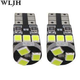 Wholesale Audi License Plates - WLJH Pure White Car Auto LED T10 194 W5W Canbus 9 2835 SMD LED Bulb No Error Parking Bulb Universal Bulb
