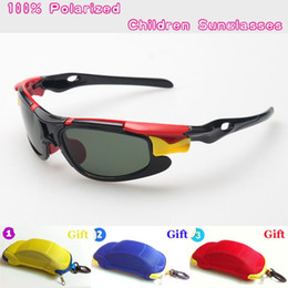 Wholesale Cool Baby Sunglasses - New Kids TAC Polarized goggles baby children sunglasses UV400 sun glasses boy girls cute cool cycling glasses