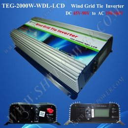 Wholesale Grid Tie Inverter Wind Lcd - dc to ac 48v to 220v wind grid tie inverter 2000W with LCD display