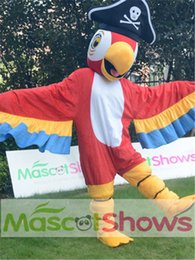 Wholesale Pirate Parrot - High Quality Pirate Parrot Mascot Costume Eagle bird animal adult Mascot Costume fancy dress Festival