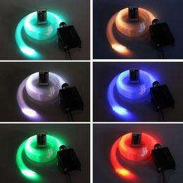 Wholesale Led Rgb Light Engine - RGB LED Fiber Optic Star Ceiling Light Kit 300pcs 2M 0.75mm optic fiber+16W LED RGB Light Engine+24Key IR Remote