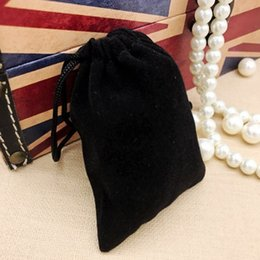 Wholesale Black Velvet Jewelry Gift Bags - 100pcs lots black velvet bags, jewellery pouches, 7*9CM 9*12CM Perfect flannelette bag For Jewelry, Wedding Favors, and Gift Packaging