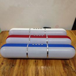 Pilule haut-parleurs bluetooth radio en Ligne-JHW-V318 Haut-parleurs Bluetooth Pulse Pills Flash Portable Haut-parleurs mains libres sans fil Support FM Radio Carte TF DHL Gratuit MIS080