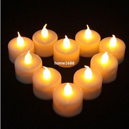 Wholesale Candle Led Pillar Light - LED Candle Light Smokeless Flameless Electronic Flash Multi Colors Light Candle Lamp Weding Party Decor 24Pcs Lot