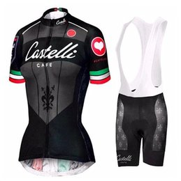 Wholesale Cycling Bib Shorts Women - 2016 Female Style Cycling Jerseys Bicycle Wear Short Sleeve Cycling Tights Compressed Short Sleeves Shirts with Black Bib Pants