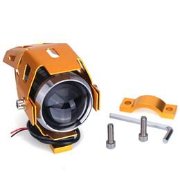 Wholesale Motorcycle Led Strobe - Cool Motorcycle CREE-LED Headlight U5 Transformer 125W 3000LM Waterproof Motorcycle Boot LED Headlight High Power Spot Light strobe light