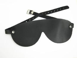 Wholesale Sexy Female Masks - Leather BDSM Bondage Adult Sexy Eye Mask Black Blindfold Sex Toys For Women