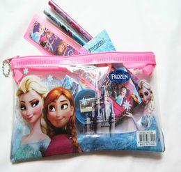 Wholesale Kid Ruler Stationery - Kids learning items Frozen stationery set for Students children stationery Frozen Pencil Cases Frozen Bags Frozen Ruler Frozen Pencils 20pcs