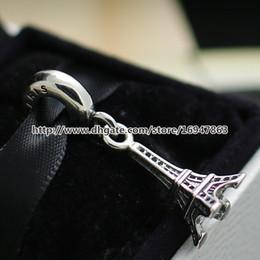 Wholesale Pandora Eiffel - High-quality Eiffel Tower Dangle Charm S925 Sterling Silver Bead Fits European Pandora Jewelry Bracelets Necklaces & Pendant