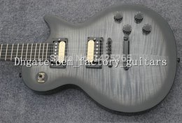 Wholesale Tuner For Guitar Free Shipping - OEM Factory best quality new Free shipping grey flame maple ebony fingerboard electric guitar,black tuner guitar
