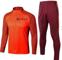 Wholesale Free Soccer Training - best 2017 2018 adult soccer jersey jacket tracksuit CHANDAL 17 18 MESSI football INIESTA SUAREZ jacket Training suit free shipping