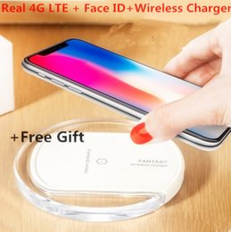 Wholesale Silver Heart Usb - 2018 Best Goophone X Wireless Charger Face ID 4G LTE Octa Core 256GB ROM MTK6735 12 MP Dual Camera Glass back Unlocked Smartphon