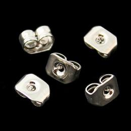 Wholesale Ear Stud Butterfly - 1000pcs -DIY Jewelry Earring Findings 4x5mm Ear Studs Butterfly Backs Earrings Plugs Stopper Charms Fit Earring Making DH-FRB010