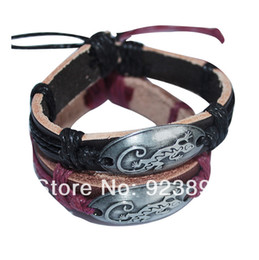 Wholesale Lizard Charms - FG 2Pcs Lot Free Shipping Hot Sale Fashion Jewelry Lizard Leather Bracelet For Lover's