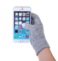 Wholesale Colorful Cotton Gloves - Glove Fashion touch screen Gloves colorful&Soft Cotton Winter Gloves Warmer Smartphones For Driving Glove Gift For Men Women