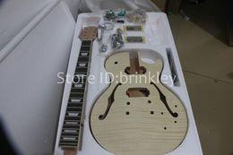 Wholesale Diy Guitars Kits - Brinkley Wholesale High Quality Electric Guitar DIY Kit Set Mahogany Body Rosewood Fingerboard Guitar kits,Unfinished Guitar