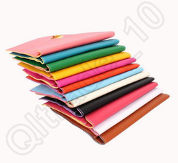 Wholesale Envelope Wallets - 40PCS HHA607 New Fashion Clutch Bags Lady Wallets Leather Credit Card Tote Envelope Clutch Bags For Women Wallet Purse