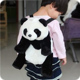 Wholesale Kids Novelty Backpacks - panda Backpack children packsack kids cute panda shoulder bag novelty kindergarten 3D panda backpack birthday Children Bags present