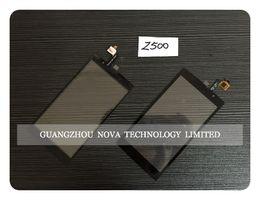 Sensor negro para Acer Liquid Z500 Z5 Z150 Z330 E350 E380 Z410 Z4 Z160 Z205 Z520 Z530 Digitalizador de pantalla táctil de Jade Z con logotipo desde fabricantes