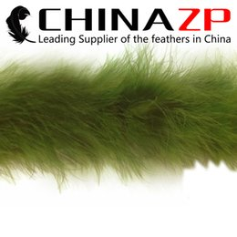 Wholesale Cheap Turkeys - Cheap Wholesale CHINAZP Crafts Factory 2yards lot Top Quality and Graceful Dyed Moss Green Turkey Marabou Feather Boas