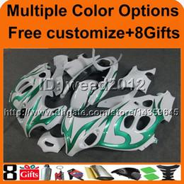 Wholesale dark blue katana - 23colors+8Gifts GREEN FLAME GSX600F 1998 1999 2000 GSX750F 01 03 04 05 06 motorcycle Fairing For Suzuki GSX600 750F Katana ABS Fairing