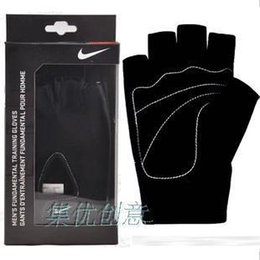 Wholesale Glove For Fitness - Wholesale-Sport Fitness authentic GX-0042 Gloves Training Gym Gloves for Men&Women sweat absorption friction resistance size M,L,XL