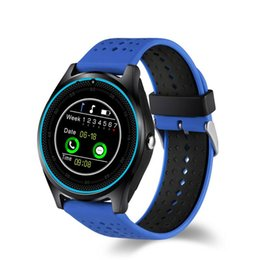 Wholesale Free Email Packages - V9 Smart Watch SIM Intelligent Mobile Phone Watch Can Record the Sleep State Smart Watch with Package Free DHL