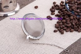 Wholesale Stainless Mesh Strainers - DHL Best Price 200pcs lot Stainless Steel Tea Pot Infuser Sphere Mesh Strainer Ball 5cm Free shipping