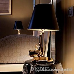 Wholesale Ak47 Lamp - Modern Flos Lounge Gun AK47 Chrome Gold Gun Starck Design Philippe Bedroom Table Lamps Desk Light Read Night Light Super Light A2