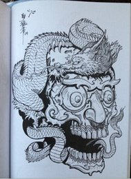 Wholesale Tattoos Designs Sketches - Tattoo books Horimouja Jack Mosher A4 size Vol.3 50 Pages Tibetan Skulls Series Skeleton Design Tattoo Art Book Flashes Sketch book