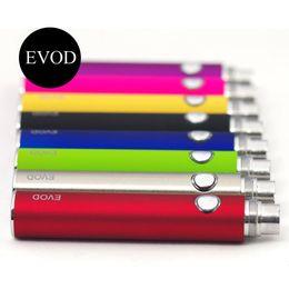 Wholesale E Cigarette Ce6 Kits - EVOD Battery 650mah 900mah 1100mah EVOD Battery for MT3 CE4 CE5 CE6 Electronic Cigarette E cig cigarette Kit Colorful Battery by DHL