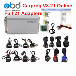 Wholesale Chip Tuning Carprog - New Carprog V8.21 Online Version Auto Repair Tool Full Set Car prog Firmware 8.21 ECU Chip Tuning Tool Better Than Carprog V9.31