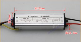Wholesale High Current Driver - Wholesale-Free shipping! 30W IP65 Waterproof LED Driver constant current 900mA for 30W High Power LED Light high efficiency