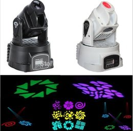 Wholesale Multi Color Spot Light - Wholesale-6pcs lot Via DHL Fedex LED Mini moving head beam spot lights 15W DJ stage home party power 20W multi-color change DMX controller