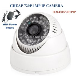 Wholesale Security Surveillance Power Supply - With power supply H.264 1.0MP Onvif 720P IP camera 36IR Dome Security IP camera  Network Camera IP surveillance camera dome