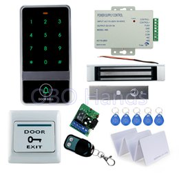 Wholesale Magnetic Card Access Control - RFID door metal access controller with touch screen digital keypad+180KG magnetic lock+10pcs key cards for access control system