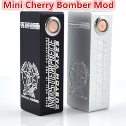 Wholesale Clearance Free Shipping - 2016 Clearance Sale Mini Cherry Bomber Box Mod Single 18650 battery Mechanical mod VS Mini ABS Hellhound box mod for e cigs free shipping