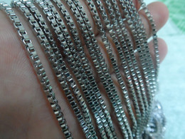 Wholesale Silver Tone Jewelry Box - choose 2mm   2.4mm wide in bulk 5meter   Lot Silver tone Stainless Steel New Box Link chain DIY jewelry finding  Marking Accessory