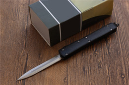 Wholesale High Carbon Pocket Knives - High quality Makora II OTF Knife D A Auto Titanium Carbon Fiber spring automatic double action pocket knife camping survival knife