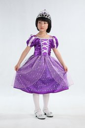 Wholesale Sell Lantern - Hot sell Children Kids Cosplay Dresses Rapunzel Costume Princess Wear Perform Clothes HOT Sale free shipping A5180